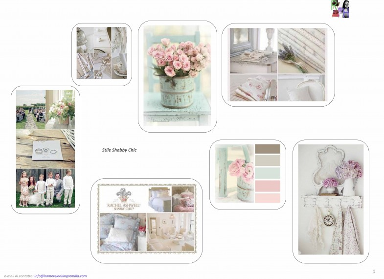 Progetto di Relooking in stile shabby chic