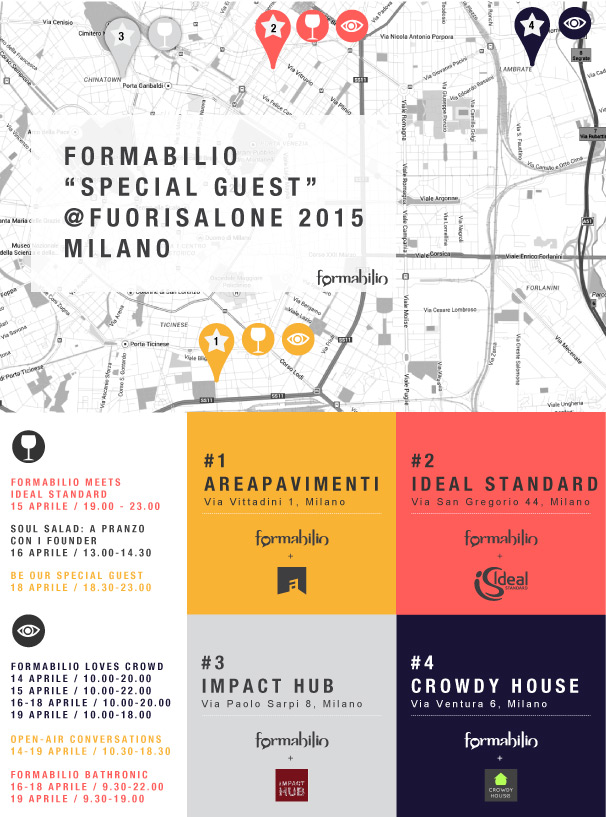 FORMABILIO SPECIAL GUEST AT MILAN DESIGN WEEK 2015