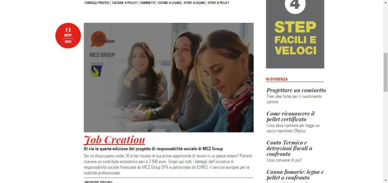 "MCZ Group presenta la quarta edizione dell'iniziativa sociale ""Job Creation"""